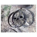 "pair of 26x4"" wagon wheels"
