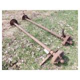 pair of 5 bolt trailer axles & springs