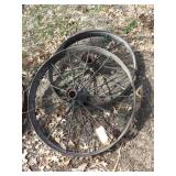 "pair of 38x4"" steel wheels"