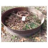 single steel wheel w/ gear 35x8""