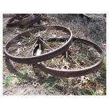 "pair 46x4"" steel wheels"