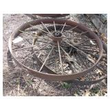 "pair of 48x4"" steel wheels"