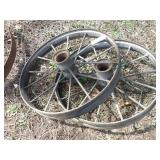 "Pair of 32x4"" steel wheels"