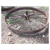 "Single 37x4"" steel wheel"