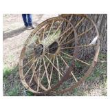 "pair of 44x3"" steel wheels"