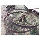 "pair of 48x3"" steel wheels"