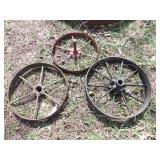 3pc small steel wheels