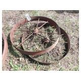 "pair of 30x4"" steel wheels"