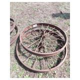 "pair of 46x4"" steel wheels"