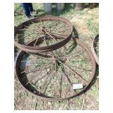 "48x5"" pair of steel wheels"