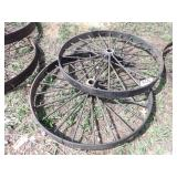 "48x4"" pair of steel wheels"
