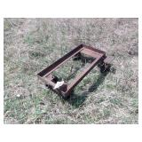 "29x14"" steel cart with casters"