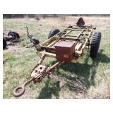 pintle hitch military tilt deck trailer