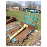 Steel platform & boom mount