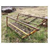 6 step steel stairway w/ rails