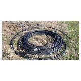 Black plastic water line