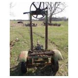 2 wheel auger power head on utility cart