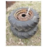 2pc Gravely General 6x12 all grip wheels & Tires