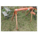 Foldable steel sawhorse