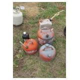 6pc galvanized & Plastic gas tank