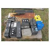 10pc batteries, 4 jugs of coolant