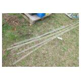 "7pc acrylic rod 1"", 1/2"" diameter"