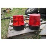 2pc red rotating beacon.