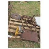 7pc Cultivator teeth, coulters, pintle hitch, ect