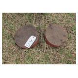 2pc round wheel weights