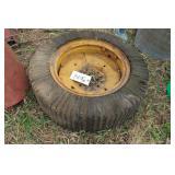 Hard rubber implement / skid loader tire