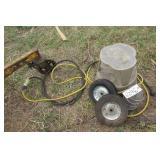 Stool, wheels & explosion proof fixture