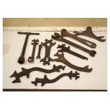Cast iron tools: Oliver, Racine, & others (11pcs)