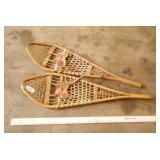 Pair of Grandeur Woven Wood Frame Snowshoes