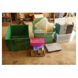 25pc Plastic Storage Totes & Containers