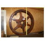 "28"" Wooden Machine Flat Belt Wheel"