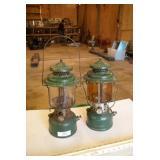 2pc Coleman White Gas Lanterns - Large