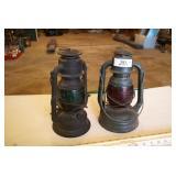 2pc Vintage Oil Lanterns