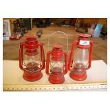 3pc Vintage Oil Lanterns