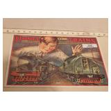 """Lionel - """"Electric trains"""" tin sign"""