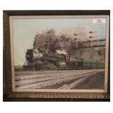 Framed Print Burlington RT Steam engine 4-6-4