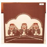Print on stretched canvas - Streamline steam engin