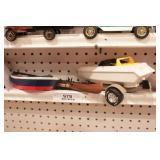 Boats - speedboat, rowboat & canoe (4pcs)