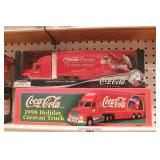 Coca cola delivery truck (2pcs)