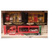 Coca Cola truck & garage accessories (3pcs)