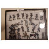 Lead Soldiers - Civil war, men on horses 30pcs