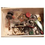 parts box - old metal toy parts