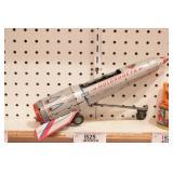Russian tin toy - Holdraketa - metal rocket