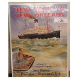 Metal sign - Southern pacific steam ships