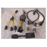 220v adapters & cord ends (7pcs)