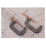 """Olympia 4"""" C-clamps (2pcs)"""